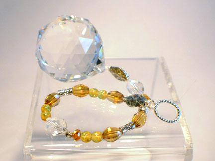 Hanging Jeweled Swarovski HEALTH Crystal