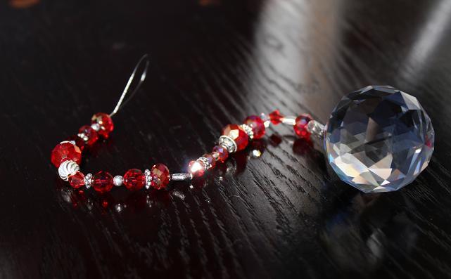 Hanging Jeweled Swarovski FAME Crystal