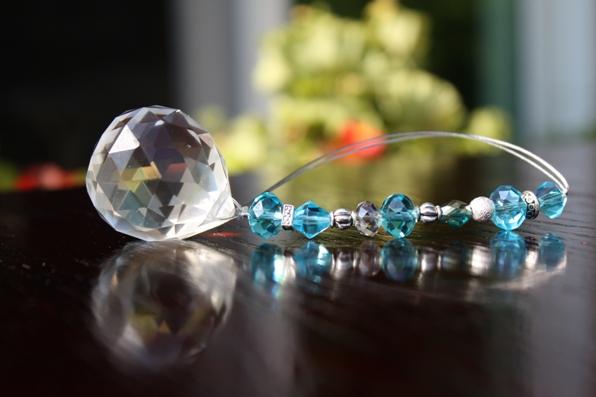 Jeweled Crystal Car Charm... KNOWLEDGE