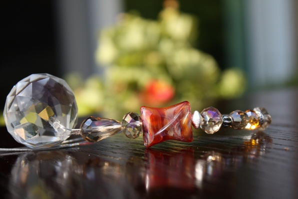Jeweled Crystal Car Charm..NATURE